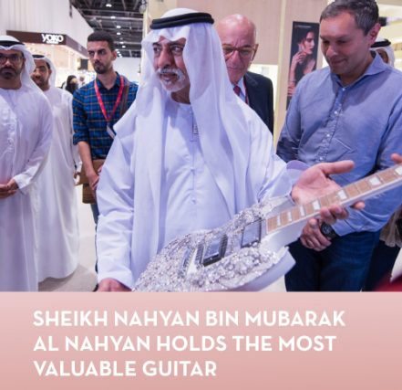 Sheikh Nahyan bin Mubarak Al Nahyan holds the most valuable guitar